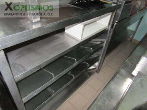 tameio paradotirio inox 2 500x375 - Ταμείο Inox με ράφια