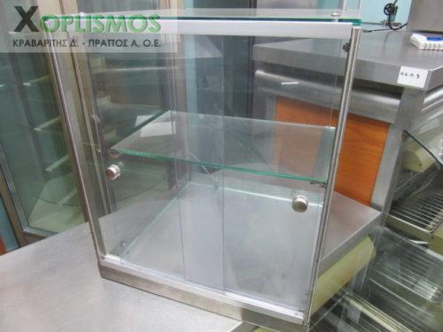 vitrina oudeteri epitrapezia gyalini 2 500x375 - Επιτραπέζια Γυάλινη Βιτρίνα Ουδέτερη
