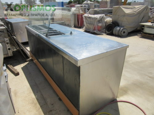 psygeio pagkos vitrina 3 500x375 - Ψυγείο σαλατών με πάγκο μεταχεισμένο 230cm