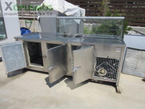 psygeio pagkos vitrina 5 500x375 - Ψυγείο σαλατών με πάγκο μεταχεισμένο 230cm