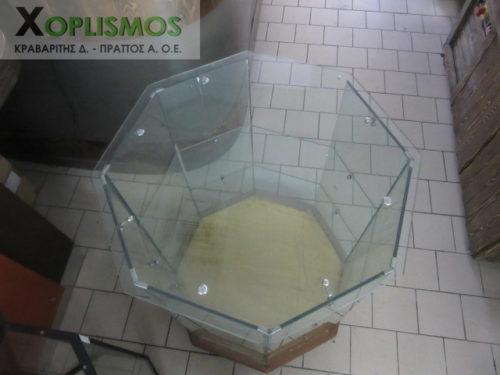 oktagoni epidapedia gyalini vitrina 4 500x375 - Οκτάγωνη επιδαπέδια βιτρίνα