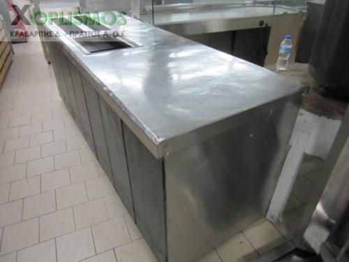 psygeio salaton me pagko 1 500x375 - Ψυγείο σαλατών με πάγκο 230cm