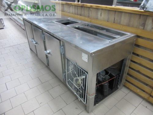 psygeio salaton me pagko 3 500x375 - Ψυγείο σαλατών με πάγκο 230cm