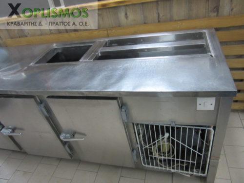 psygeio salaton me pagko 5 500x375 - Ψυγείο σαλατών με πάγκο 230cm