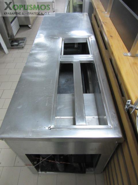 psygeio salaton me pagko 6 - Ψυγείο σαλατών με πάγκο 230cm