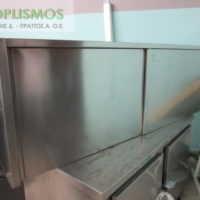 potiriera inox kleisti 2 200x200 - Ποτηριέρα κλειστή 190cm
