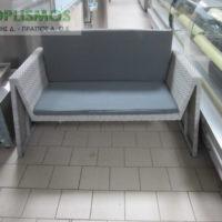 grey kanapes plastikos kipou 1 200x200 - Μεταχειρισμένα Τραπέζια - Καρέκλες