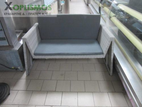 grey kanapes plastikos kipou 1 500x375 - Γκρί καναπές διπλός