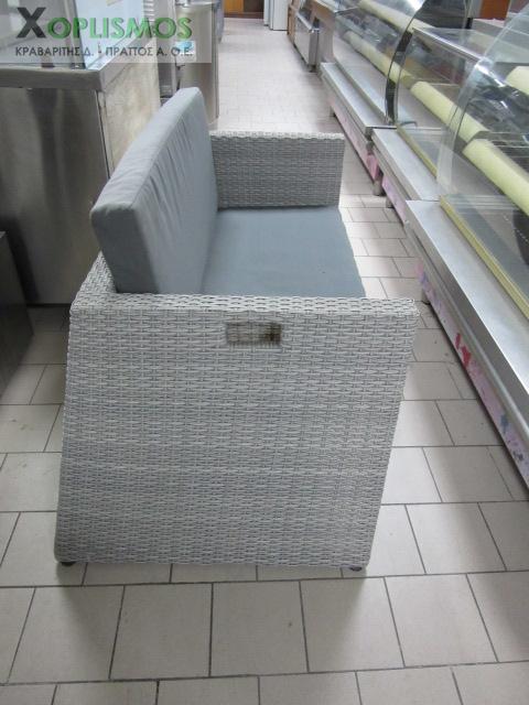 grey kanapes plastikos kipou 2 - Γκρί καναπές διπλός