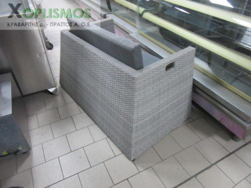 grey kanapes plastikos kipou 3 500x375 - Γκρί καναπές διπλός