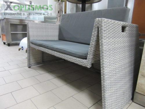 grey kanapes plastikos kipou 4 500x375 - Γκρί καναπές διπλός