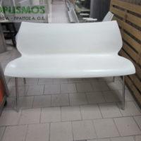 kanapes diplos aspros plastikos me inox skeleto 1 200x200 - Μεταχειρισμένα Τραπέζια - Καρέκλες