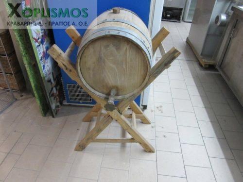 vareli xylino me vasi 1 500x375 - Ξύλινο βαρέλι κρασιού