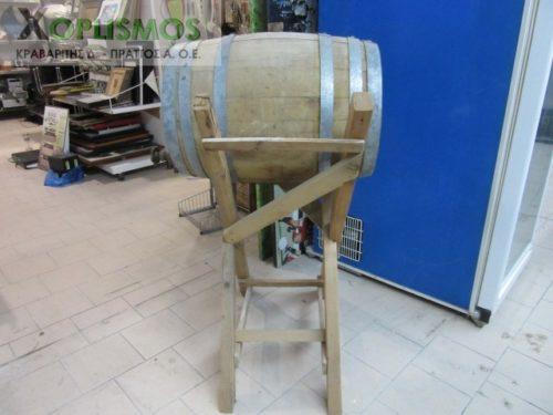 vareli xylino me vasi 4 500x375 - Ξύλινο βαρέλι κρασιού