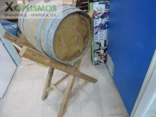vareli xylino me vasi 5 500x375 - Ξύλινο βαρέλι κρασιού