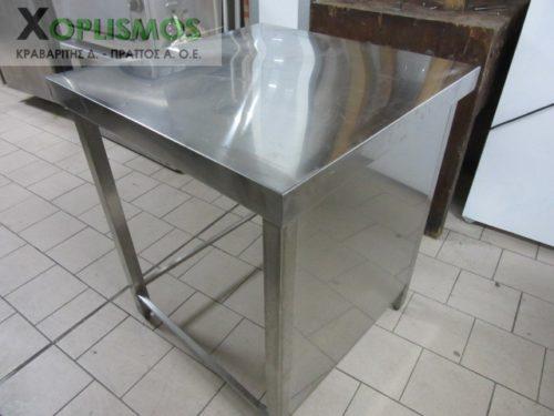 trapezi inox 3 500x375 - Τραπέζι ανοιχτό inox