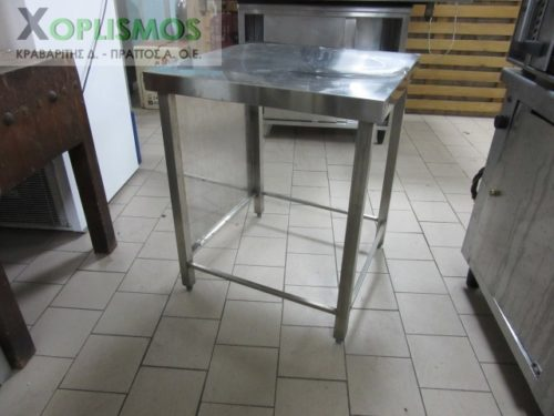trapezi inox 4 500x375 - Τραπέζι ανοιχτό inox