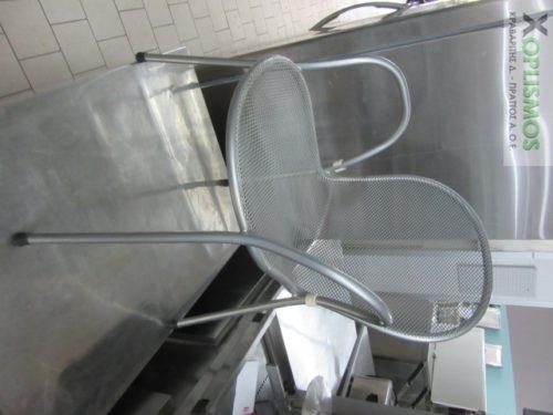 gray metallic chair 2 500x375 - Καρέκλα Ασημί Μεταλλική