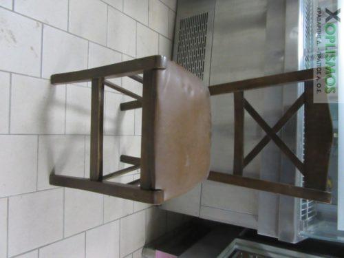 karekla kafe xylini 2 500x375 - Καρέκλα ξύλινη καφέ