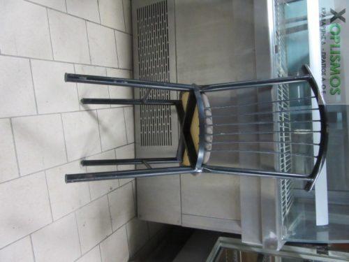 mayri metalliki karekla 4 500x375 - Καρέκλα Μεταλλική Μαύρη